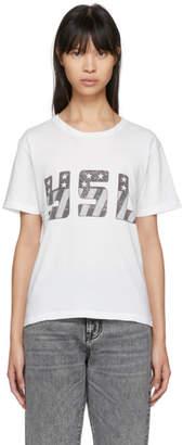 Saint Laurent White Logo T-Shirt