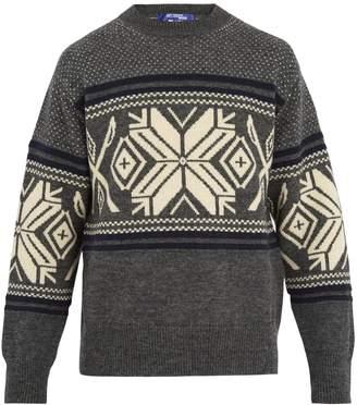 Junya Watanabe Snow-pattern wool-blend sweater