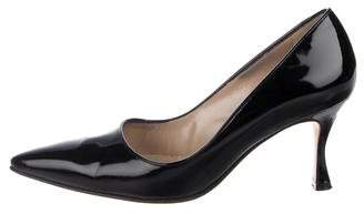 Manolo Blahnik Patent Leather Pointed-Toe Pumps