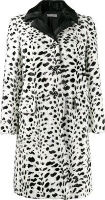 Miu Miu polka dot printed coat