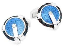 Tateossian Pulley Leather Cuff Links