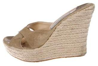 Jimmy Choo Suede Slide Sandals