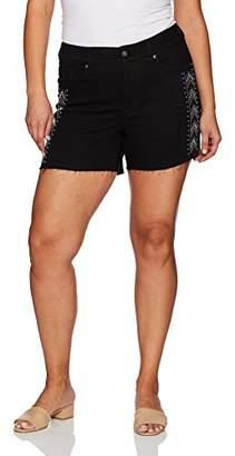 "Melissa McCarthy Women's Plus Size 5"" Inseam Jean Short"