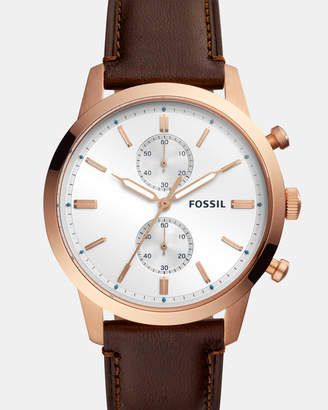 Fossil Townsman Brown Chronograph Watch