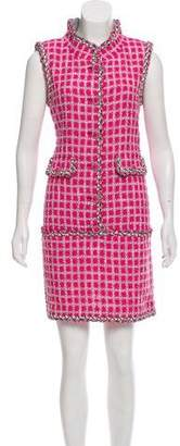 Chanel Embellished Tweed Dress