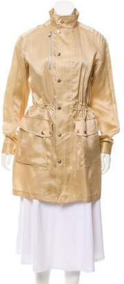Ralph Lauren Silk Knee-Length Coat