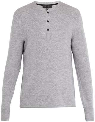 Rag & Bone Gregory long-sleeved wool-blend henley top