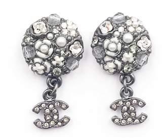 Chanel Grey Metal Earrings
