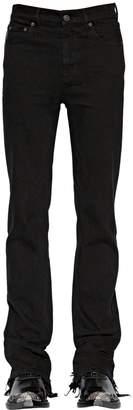 Balenciaga Distressed Slim Cotton Blend Jeans
