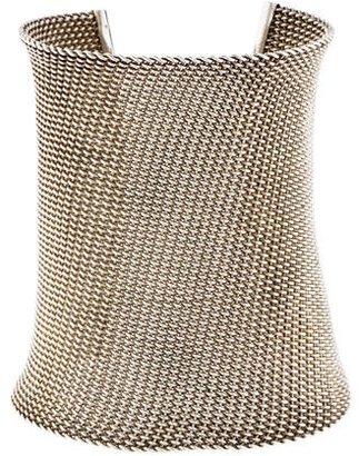 John Hardy Wide Woven Cuff Bracelet $545 thestylecure.com