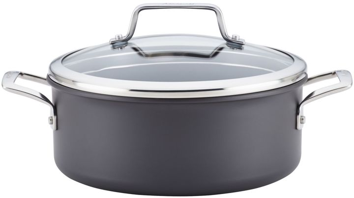 AnolonAnolon® AuthorityTM Hard Anodized Nonstick 5 qt. Covered Dutch Oven in Grey