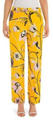 Emilio Pucci Twill Print Silk Trousers