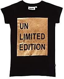 "Molo Kids Infants' Rozalia Metallic ""Unlimited Edition"" Cotton T-Shirt-Black"