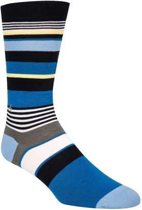 Calvin Klein Multistriped Logo Crew Socks