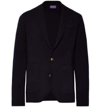 Ralph Lauren Purple Label Midnight-Blue Unstructured Merino Wool Blazer
