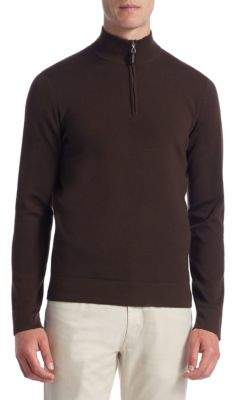 COLLECTION Tech Merino Wool Quarter-Zip Sweater