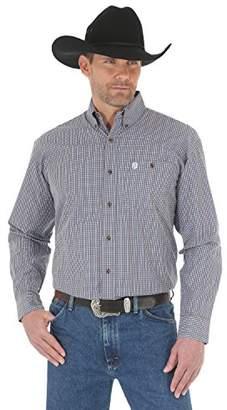 Wrangler Men's George Strait Long Sleeve One Pocket Woven Shirt