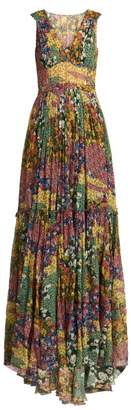 Missoni Floral Print Silk Dress - Womens - Yellow Print