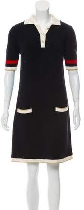 Gucci Pearl-Accented Knit Dress
