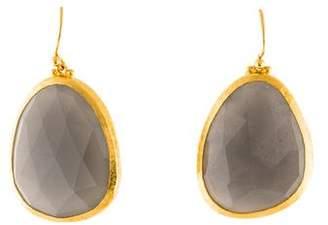 Gurhan 24K Elements Moonstone Drop Earrings