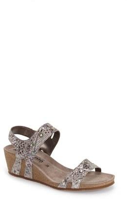 Women's Mephisto 'Minoa' Wedge Sandal $269.95 thestylecure.com