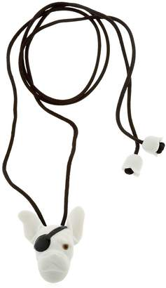 Lladro Bulldog Animal Heroes Necklace
