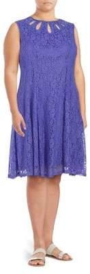 Gabby Skye Plus Lace Knee-Length Dress