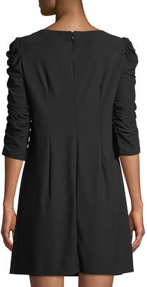 Laundry by Shelli Segal Ruched-Sleeve Shift Dress