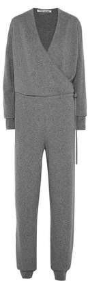 Elizabeth and James Norica Wrap-effect Cashmere Jumpsuit - Gray