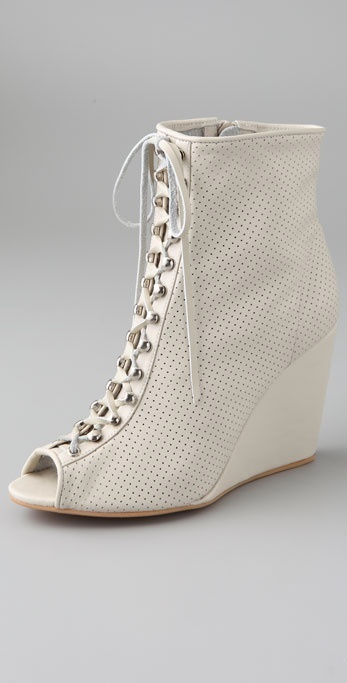 Madison Harding Rockaway Perforated Wedge Booties