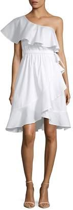 Saks Fifth Avenue BLACK Women's One-Shoulder Ruffle Dress
