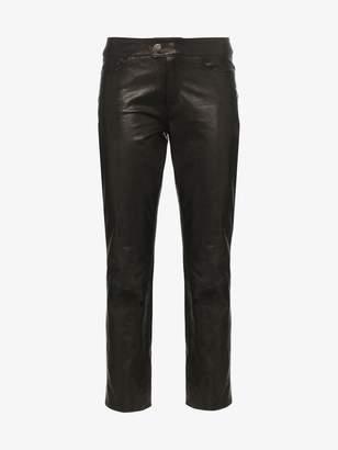 Skiim Jean leather slim-fit trousers