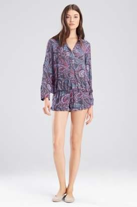 Josie Nomad PJ Shorts Set Charcoal/Pink