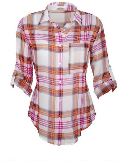 Delia's Boyfriend Plaid Shirt