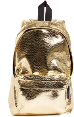 Comme des Garcons Small Metallic Faux Leather Backpack