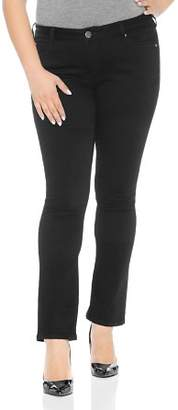 Decode 1.8 SLINK Jeans Plus Straight-Leg Jeans in Solid Black