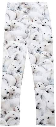 Molo Polar Bear Print Jersey Leggings