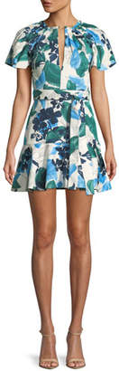 Alexis Reede Floral Flounce Mini Dress