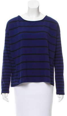 White + Warren Striped Long Sleeve Top