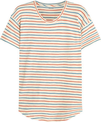 Madewell - Whisper Striped Cotton-jersey T-shirt - Cream