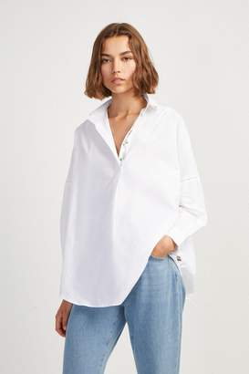 French Connenction Rhodes Poplin Floral Popover Shirt