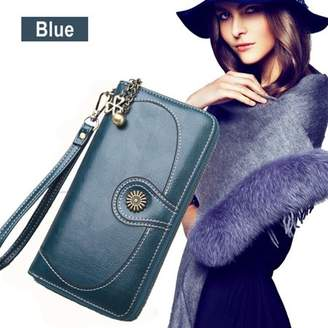 Kadell Women Large Capacity PU Leather Wallet Coin Purse Card Case Clutch Bag Handbag for Lady Gift