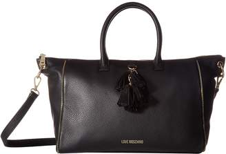 Love Moschino Leather Tote with Tassel Handbags