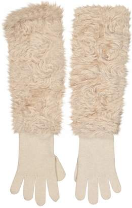 Prada Beige Wool Gloves