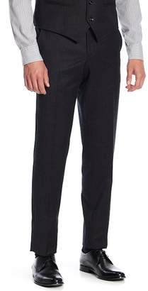 Ted Baker Jeremy Flat Front Solid Wool Trousers