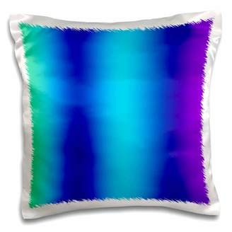 3dRose Print of Gradient Blue Into Aqua And Purple - Pillow Case, 16 by 16-inch