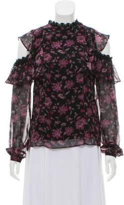 AMUR Silk Off Shoulder Blouse w/ Tags