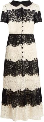 REDVALENTINO Short-sleeved macramé-lace dress $1,260 thestylecure.com