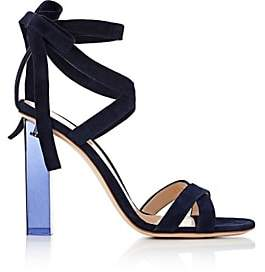 Gianvito Rossi Women's Suede Ankle-Tie Sandals - Denim