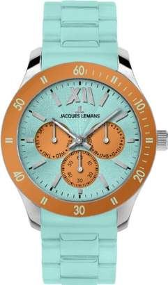 Jacques Lemans Women's 'Rome Sport' Quartz Stainless Steel and Silicone Casual Watch